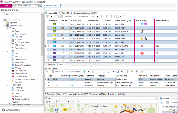 Disposition, Logistiksoftware, Transportmanagementsystem
